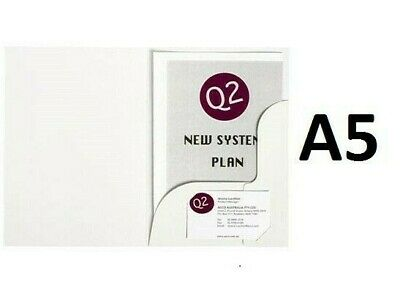 20 x   A5  Marbig 1106108   White Professional Series Gloss Presentation Folders