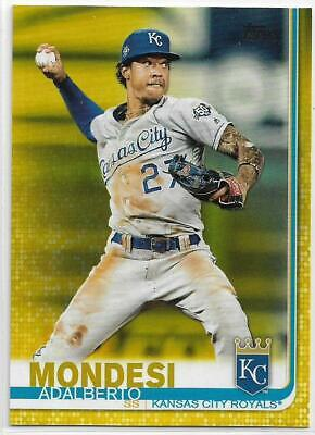 2019 Topps Series 1 Adalberto Mondesi Walgreens Exclusive Yellow Parallel Royals