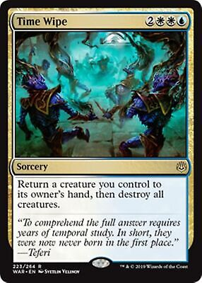 TIME WIPE War of the Spark MTG Gold Sorcery Rare