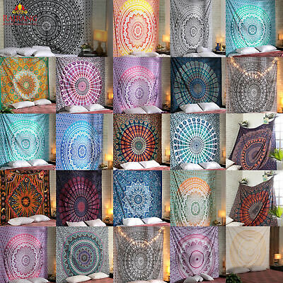 Mandala Tapestry Indian Wall Hanging Decor Beach Bohemian Hippie Bedspread Throw