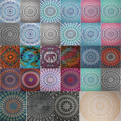 Retro Boho Mandala Tapestry Wall Decor Beach Travel Blanket Yoga Mat Home Carpet