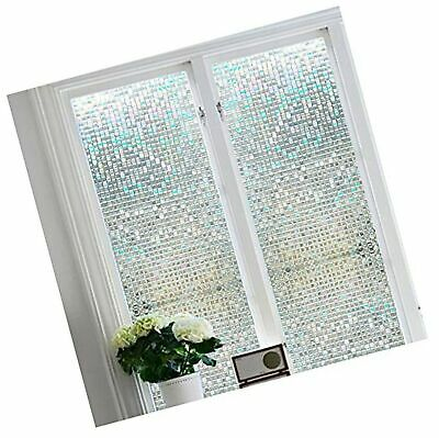BLOSS STAINED GLASS Window Film Non-Adhesive Privacy Window