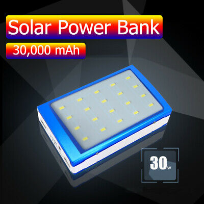 50000mAh Dual USB Solar External Power Bank Battery Charger Pack For Cell Phone
