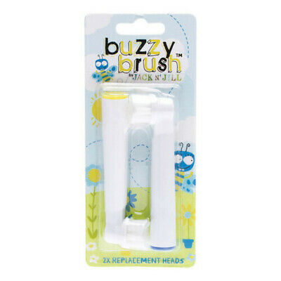 Jack N Jill Buzzy Brush Replacement Heads For Electric Toothbrush 2 Pack