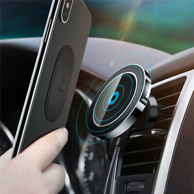 Baseus Big Ears Magnetic Car Mount Fast Charge Qi Wireless Charger - Black