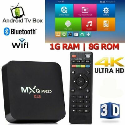 2019 MXQ PRO 4K Smart TV BOX Android 7.1 4K HD WiFi Quad Core 3D Media Player US