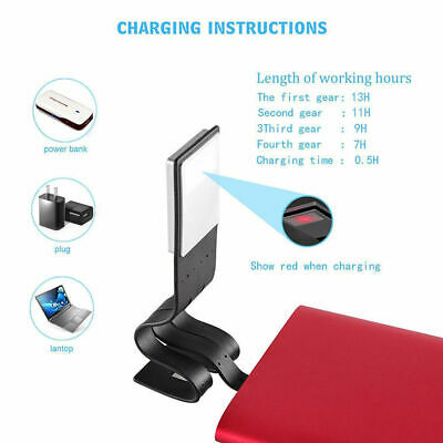 Fine Portable Travel Book Reading Light Lamp Mini LED Clip Booklight  8 Lumen BS