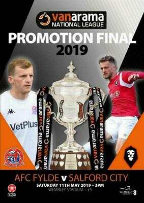 * 2019 NATIONAL LEAGUE PLAY-OFF FINAL - SALFORD CITY v AFC FYLDE (11th May) *