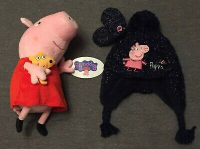 NEW M&S CHILDS PEPPA PIG HAT & GLOVES SET Marks and Spencer 3-6 Months Baby