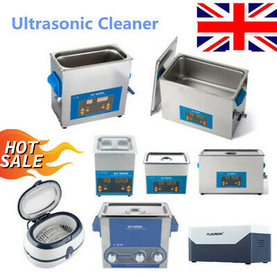 2-27L Stainless Ultrasonic Cleaner Heated Sonic Cleaning Machine Baths Tank Time
