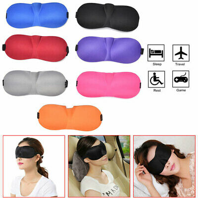 3D Soft Padded Travel Blindfold Blackout Eye Mask For Aid Sleep Rest Shade Cover