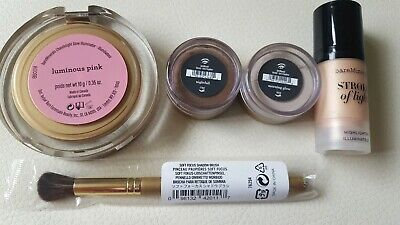 BareMinerals bundle: 2 × Highlighter, 2 × Eyecolor and Shadow Brush Brand New