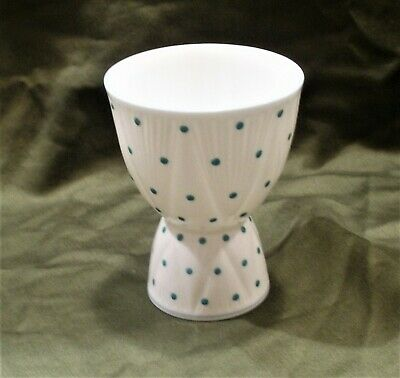 Shelley 2 Sided Egg Cup Pattern 13748/T Turquoise Dot in Dainty Very Rare NOS