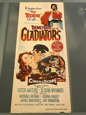 ORIGINAL DAYBILL POSTER 13x30: Demetrius and the Gladiators (1954) Victor Mature