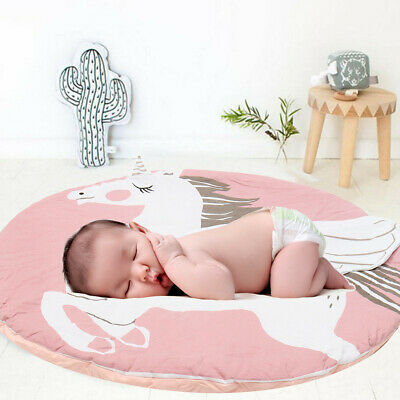 U Children Kids Game Play Mat Baby Crawling Rug Carpet Cotton Blanket Playmat