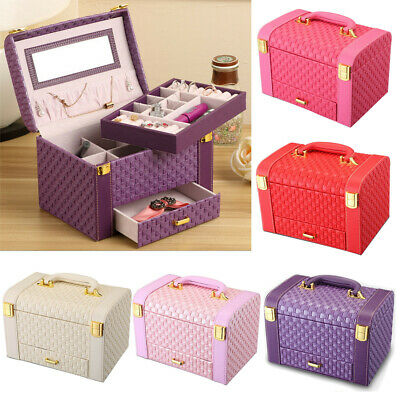 Large Jewellery‎ Box Makeup Storage Organiser  Portable Travel Case