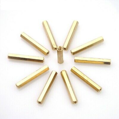 Brass Female-Female Threaded Hexagon Standoffs Spacers M3 x (4mm-60mm)