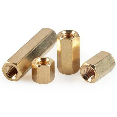 10PCS Brass Female-Female Threaded Hexagon Standoffs Spacers M2.5 x (3mm-30mm)
