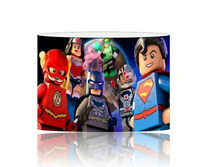 (039)  Lego Superheroes Lampshade  / Ceiling Light Shade Kids Free P+P