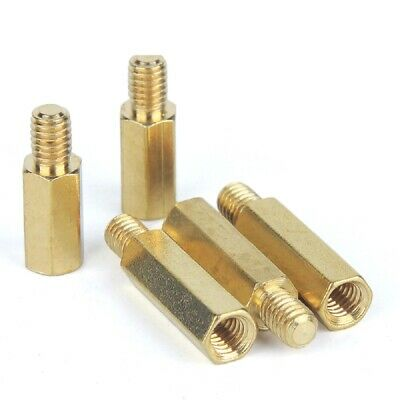 Brass Male-Female Threaded Hex Standoffs Spacers M4 x (6mm-60mm)+6mm