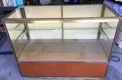Lighted commercial Brass display case