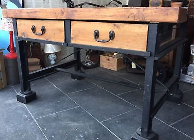 Vintage Antique Work Bench Originally From A Victorian Mill