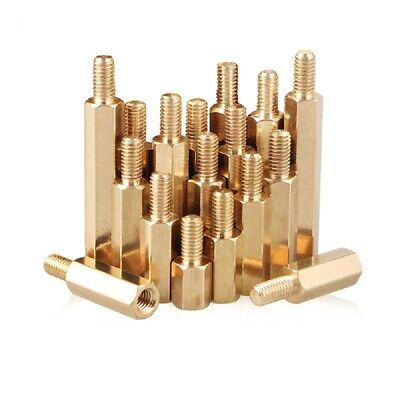 Brass Male-Female Threaded Hex Standoffs Spacers M2.5 x (3mm-30mm)+6mm