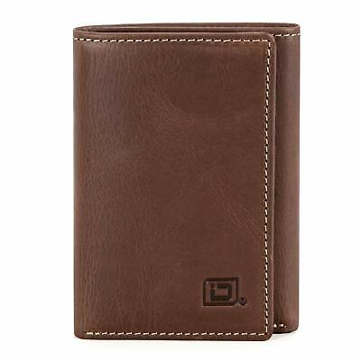 Id Stronghold Thin Rfid Blocking Trifold Wallet For Men Genuine Buffalo Leather