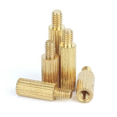 10PCS Brass Male-Female Threaded Round Standoffs Spacers M2 x (27mm-40mm)+3mm