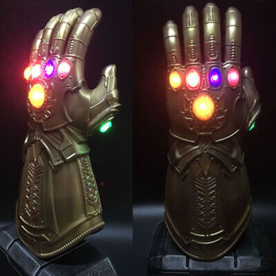 Thanos Infinity Gauntlet LED Light Gloves Cosplay Avengers Infinity War Prop pi0