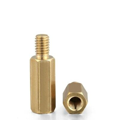 20PCS Brass Male-Female Threaded Round Standoffs Spacers M2 x (3mm-26mm)+3mm
