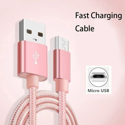 Micro USB Nylon Braided Data Cable Sync Fast Charger Cable For Huawei Samsung AU