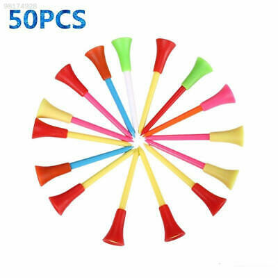 4307 New 50pcs Multicolor Plastic Golf Tees Golf Rubber Cushion Top High Quality