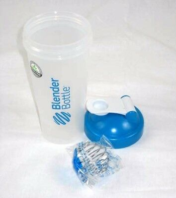 Blender Bottle Protein Shakes BPA Free with Ball 8 in Clear Blue Classic 28 oz