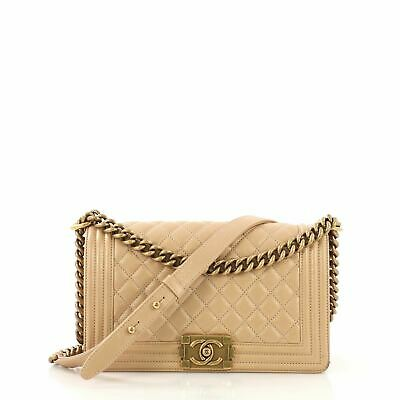 0cacd562b133 CHANEL BOY FLAP Bag Pearl Embellished Satin Old Medium - $5,320.00 ...
