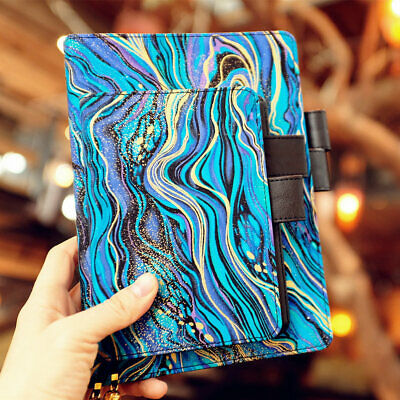 """Blue Mystery"" 1pc Beautiful Notebook Journal Diary Notepad Linen Leather Cover"