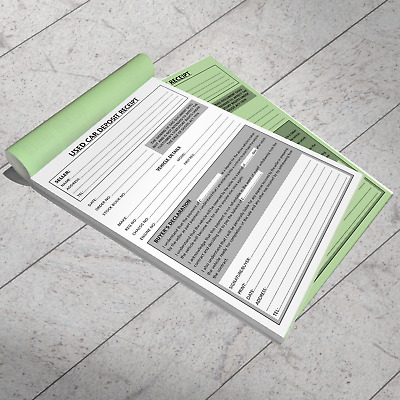 Used Car Vehicle Sales Deposit/Invoice Pad A5 Professional Trade Motor Trader