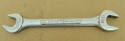 """Vtg CRAFTSMAN VV Series Open End Wrench 19/32"""" & 11/16"""" No. 44581-USA Made-GUC"""