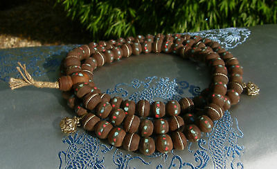 Wonderful Mala Prayer Beads Made of Real Bodhi-Samen with Counter from Tibet