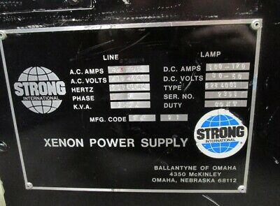 Strong 2.5K - 7K Xenon lamp rectifier, 220v 3 phase, irem spec, 100 - 170 amp DC