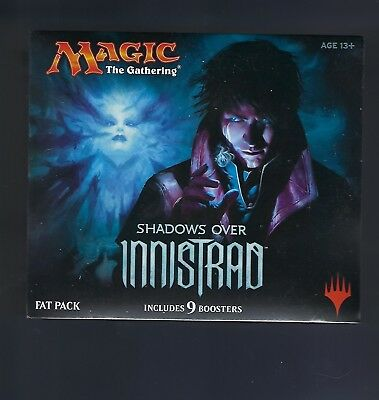 "Magic The Gathering Shadows Over Innistrad Fat Pack ""Sealed"" 9 Booster Packs ! !"