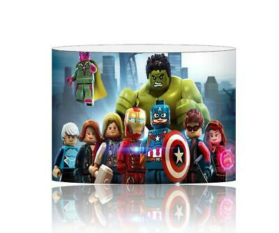 (094)  Avengers Lego Superheroes Lampshade / Ceiling Light Shade Kids Free P+P