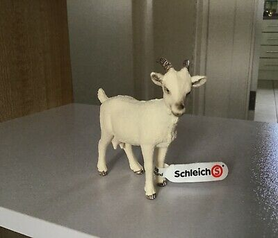 Schleich 13719 Domestic Goat Farm Life Animal Figure - Retired - New with Tags