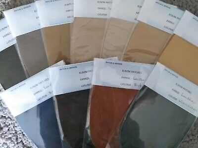 Real Leather Oval Elbow /Knee Patches - - ****Reduced To Clear****-- 11 Colours
