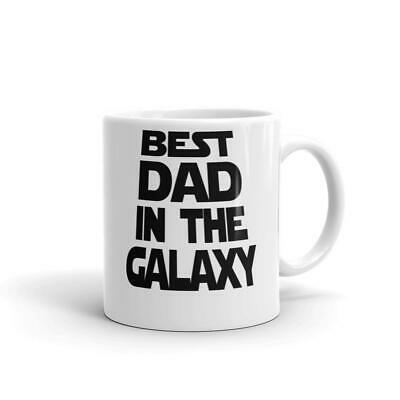 512300c9 Best Dad In The Galaxy Father's Day 11oz Funny Coffee Mug Dish Micro Safe