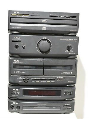 AKAI AX-550 Mini System with 1 Bit D/A Converter CD, Phono Cassette, PreAmp