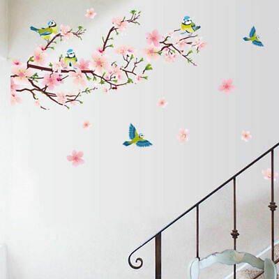 Fresh Flower Animal Wall Sticker Decal Removable PVC Wall Sticker Home Decor New