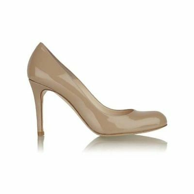 LK Bennett SHILO Beige 39 1/2 39.5 UK 6.5 Patent Leather Courts Heels Shoes FAB!