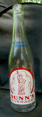 Dunn's Deluxe Beverages 10oz acl soda bottle Sedalia MO ~ Statue of Liberty