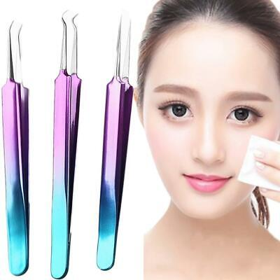 Blackhead Acne Pimple Extractor Remover Clip Needle Tweezers Stainless Steel New